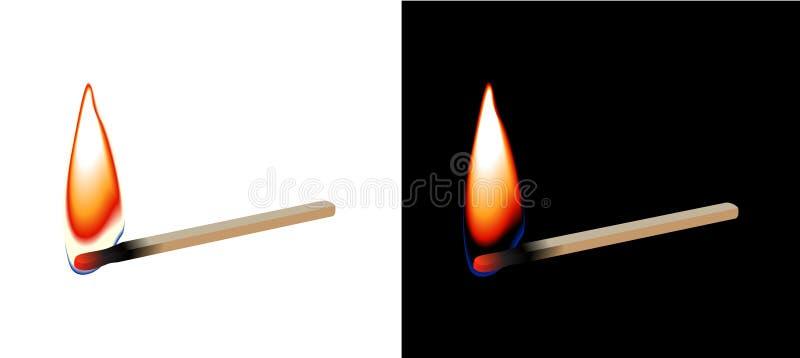 płonący matchstick ilustracja wektor