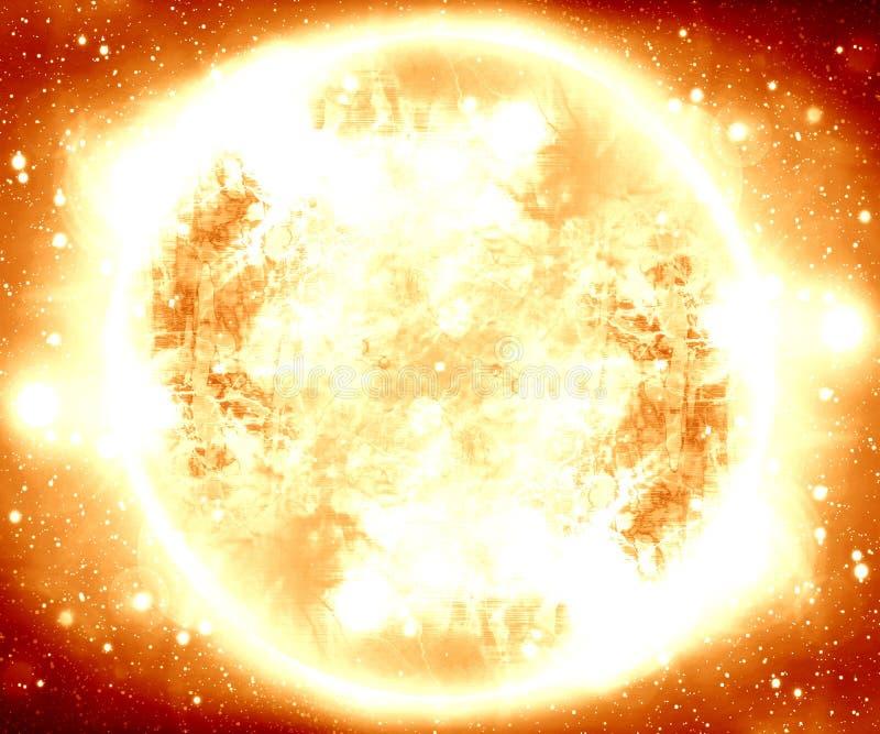 Płonący meteor royalty ilustracja