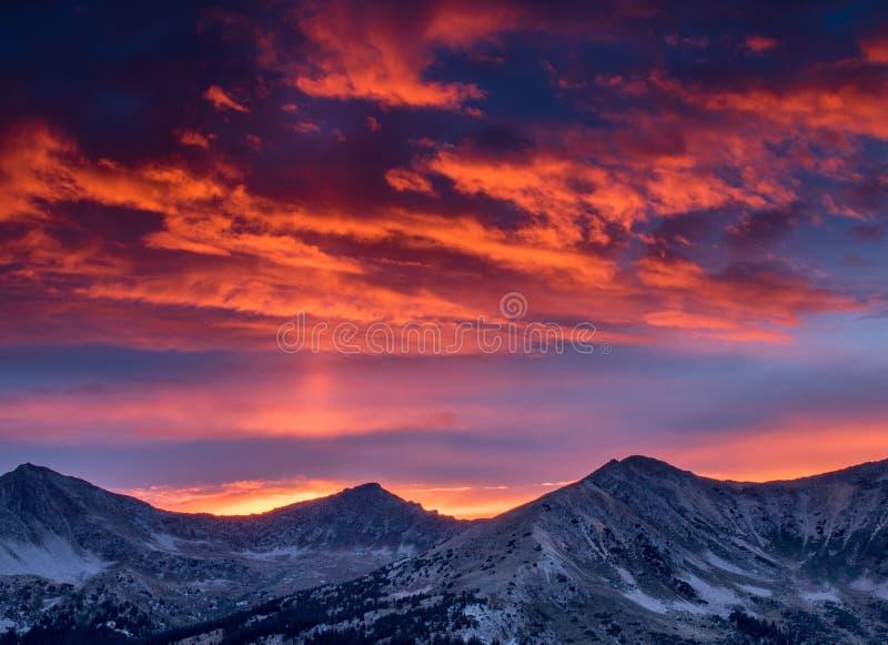 płonący niebo obrazy royalty free