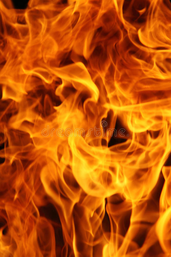 płonący ogień obrazy royalty free
