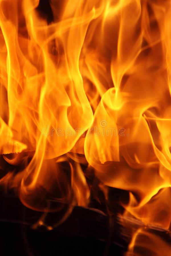płonący ogień obrazy stock