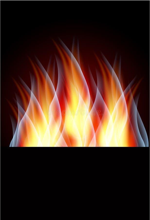 płonący płomień ilustracja wektor