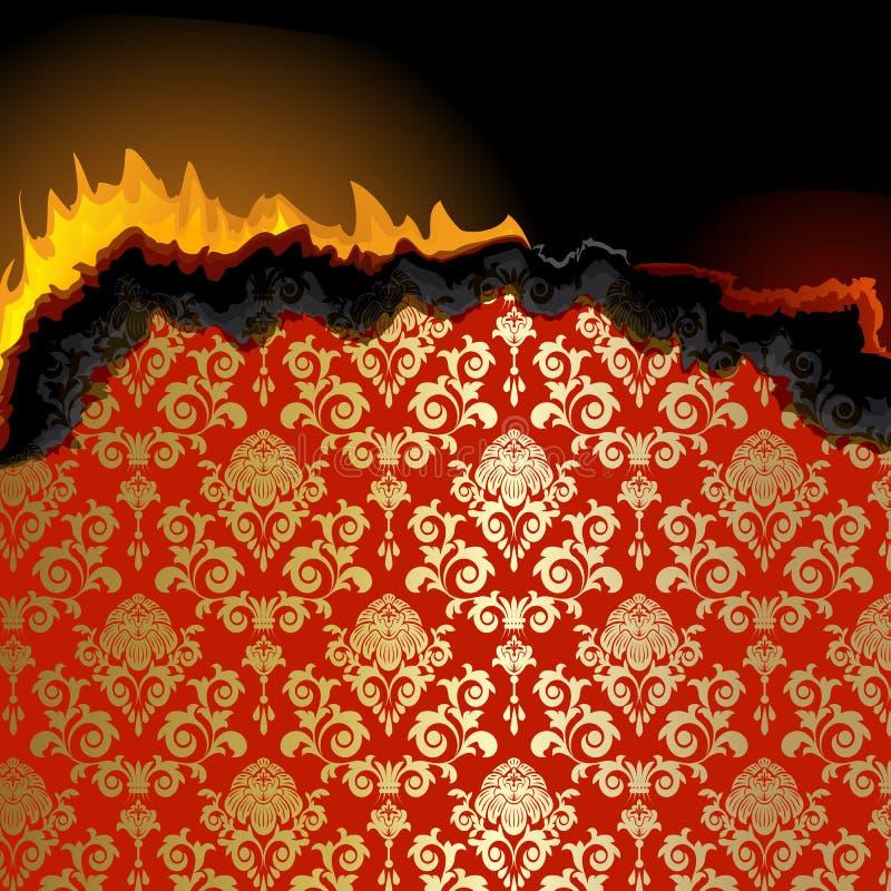 płonący papierowy kawałek ilustracji