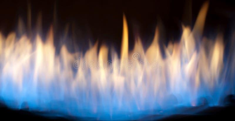 płonący pożarniczy płomień fotografia stock