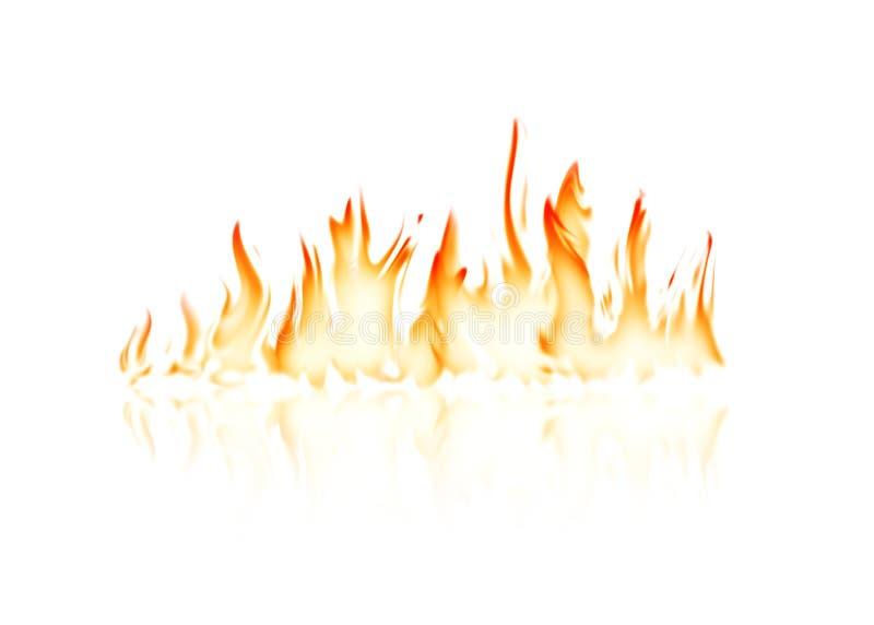 Płonący pożarniczy płomień ilustracja wektor