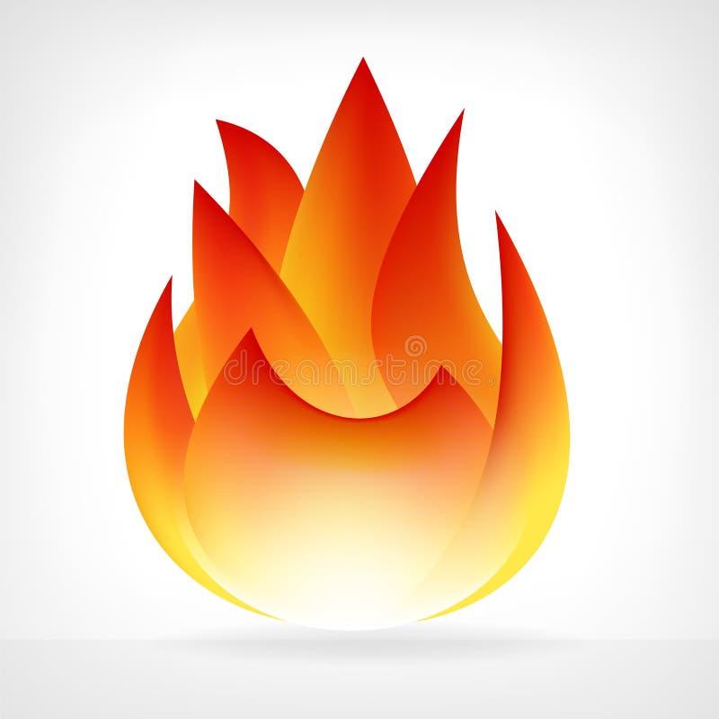 Płonący pożarniczy płomienia wektoru element
