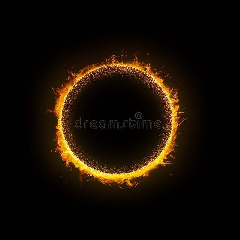 Płonący słońce ilustracji
