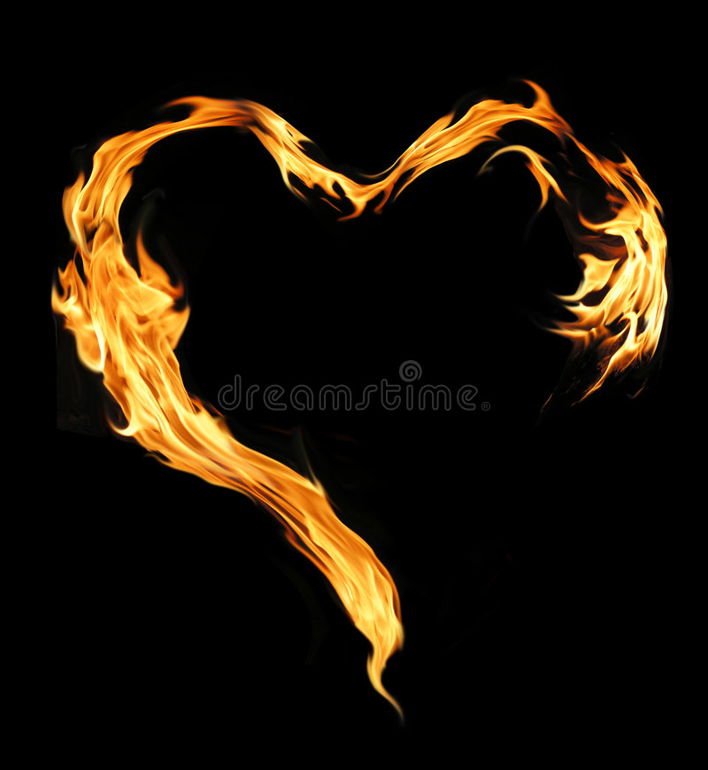 płonący serce obraz royalty free