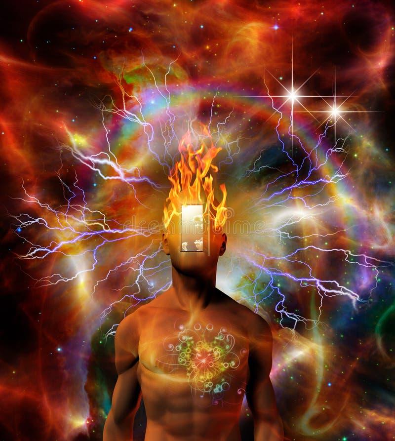 płonący umysł ilustracja wektor
