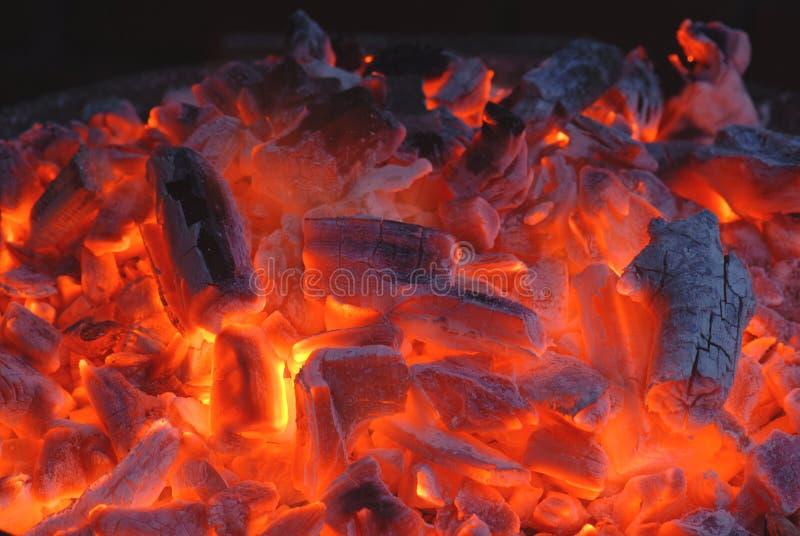 płonący węgla obrazy stock
