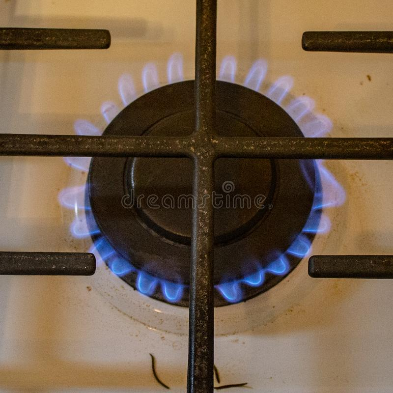 Płonący w górę piecowego palnika zdjęcia royalty free