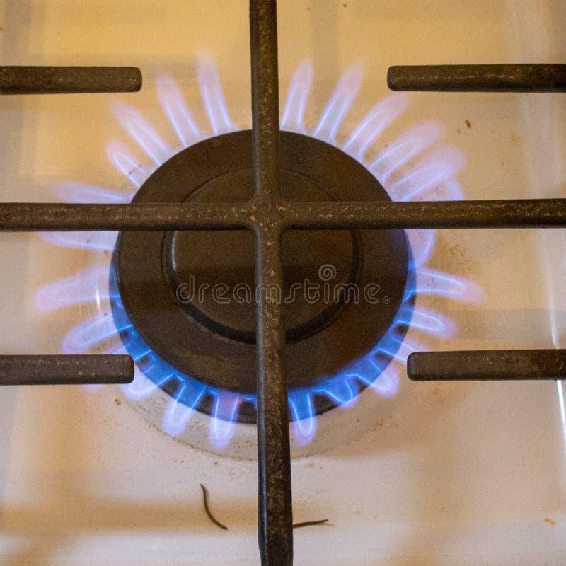 Płonący w górę piecowego palnika obraz stock