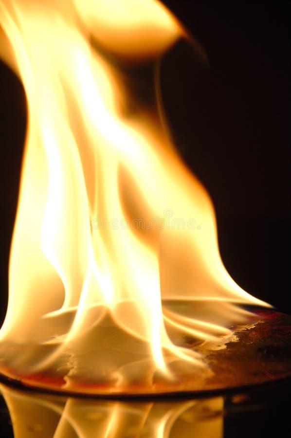 płonie fotografia stock
