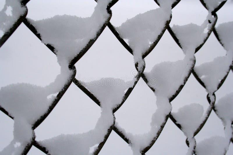 płotowy śnieg obrazy royalty free