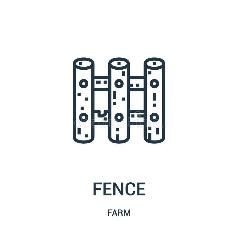 płotowy ikona wektor od rolnej kolekcji r Liniowy symbol dla używa na sieci i wiszącej ozdobie ilustracja wektor