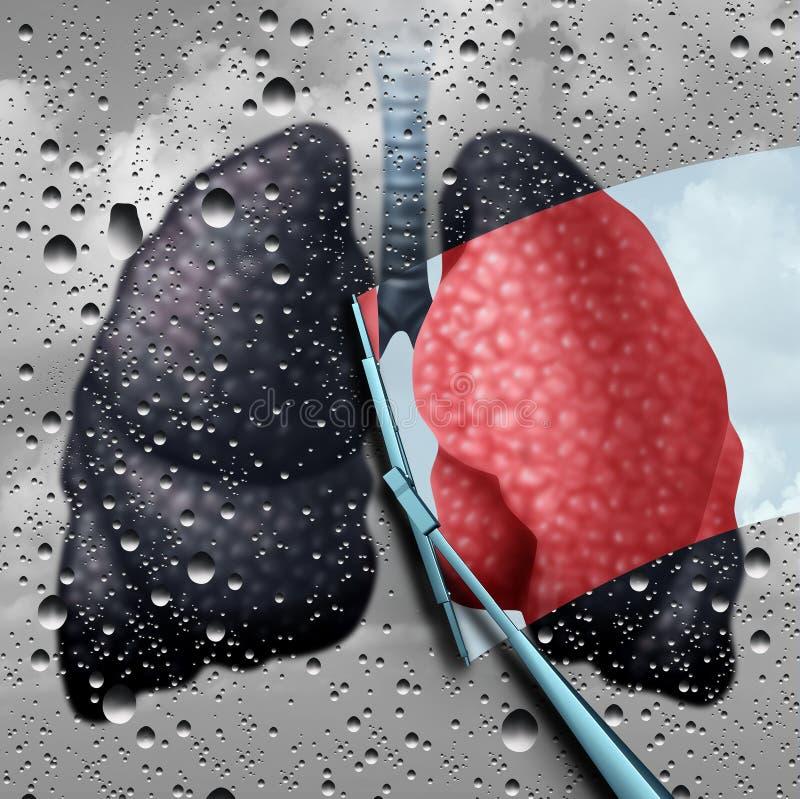 Płuc zdrowie terapia royalty ilustracja