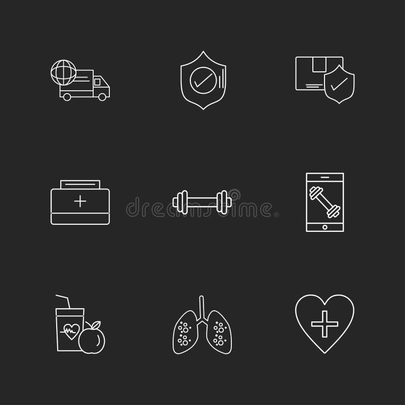 płuca, jedzenie, osłona, ciężarówka, sprawność fizyczna, gacenie, serce, frui royalty ilustracja