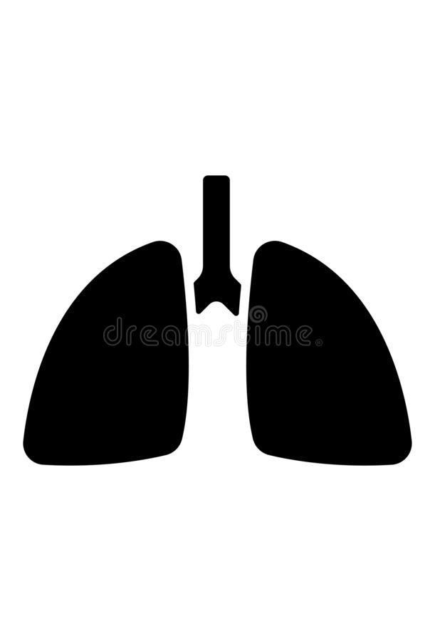 Płuco ikony wektor ilustracja wektor