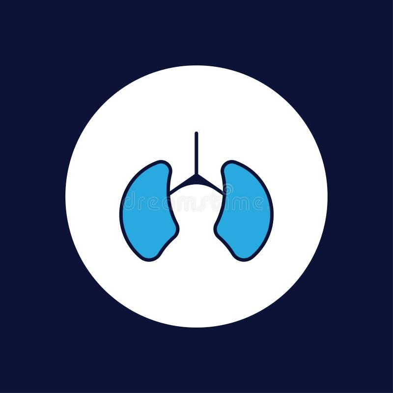 Płuco ikony znaka wektorowy symbol royalty ilustracja