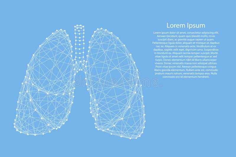 Płuco ludzki organ oddychanie od abstrakcjonistycznego futurystycznego polygo royalty ilustracja