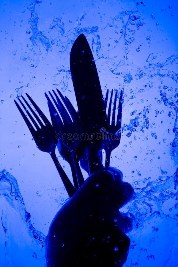 Płuczkowy flatware zdjęcie royalty free
