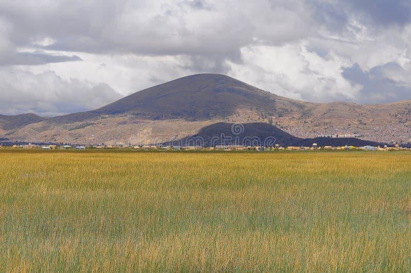 Płycizny Titicaca jezioro. zdjęcia royalty free