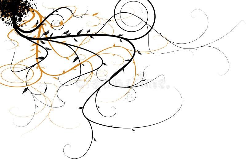 płynie kwiecisty ilustracji