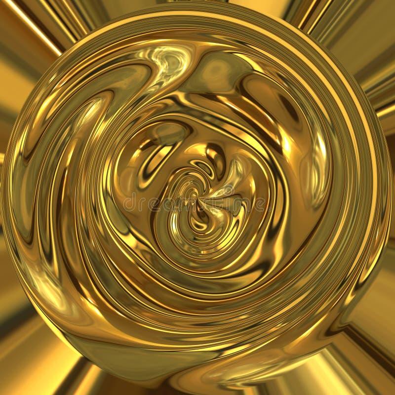 płynne złoto abstrakcyjne zioło ilustracji