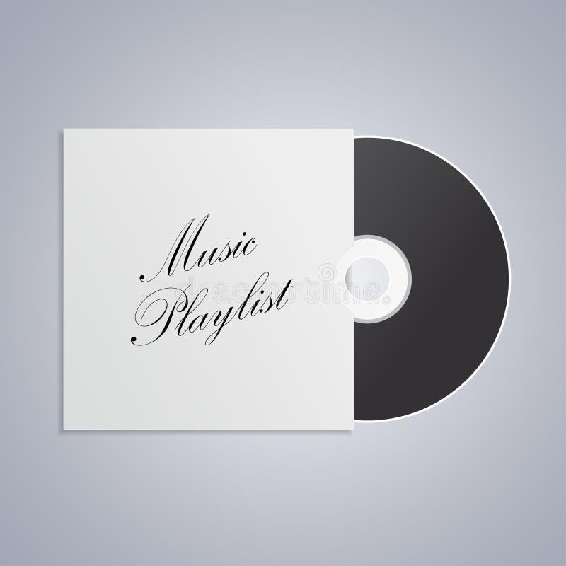 Płyta kompaktowa, winyl, cd, DVD dyska ikona, muzyczny playlista na popielatym tle ilustracji
