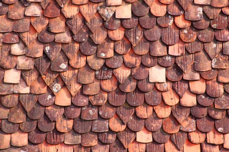 płytki dachowe stare zdjęcia royalty free