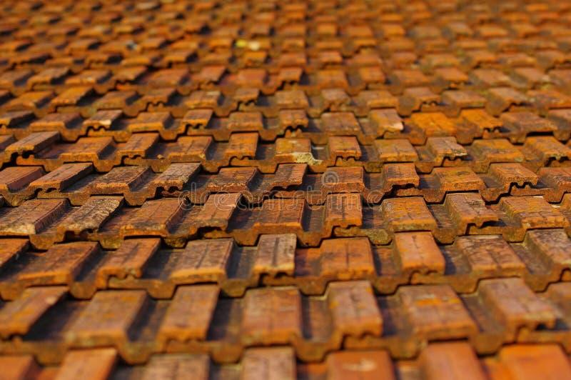 płytki dachowe stare zdjęcia stock