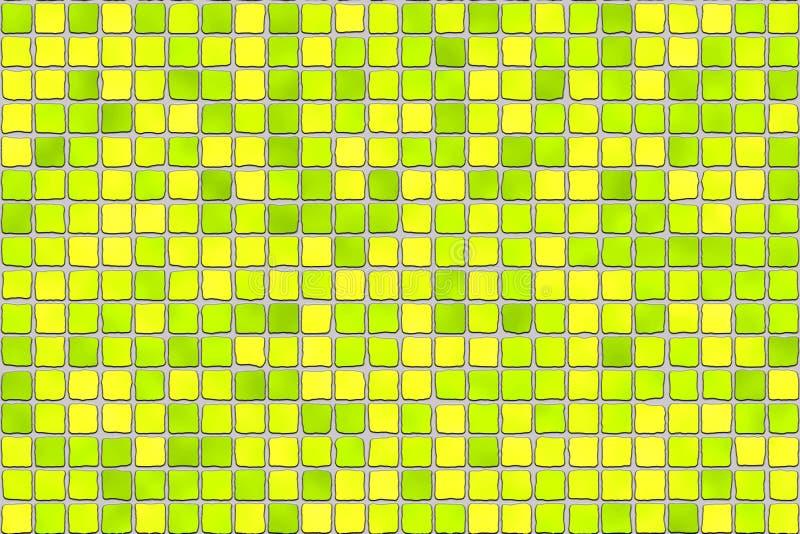 płytki mozaiki żółte fotografia royalty free