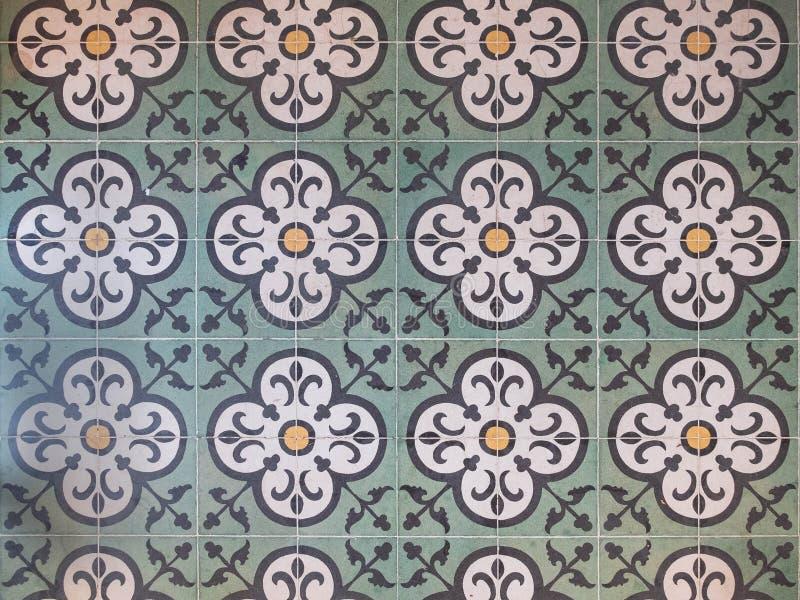Płytki podłogowe o strukturze kwiatowej Koncepcja abstrakcyjnego tła wzorka bez szwu obrazy stock
