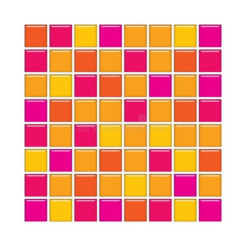 płytki szklane pomarańczy różowe ilustracja wektor