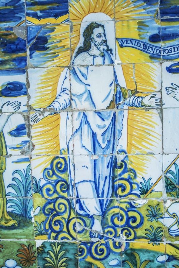 Płytki Wskrzeczali Jezus Bazylika Del Prado Talavera De Los angeles Reja royalty ilustracja