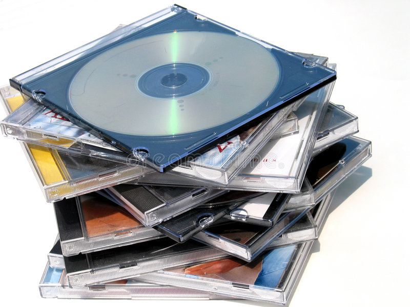 płyty dvd zdjęcia royalty free