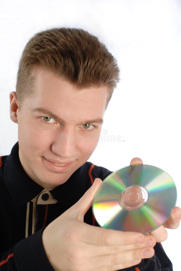 płyty dvd dysk ręka zdjęcia stock