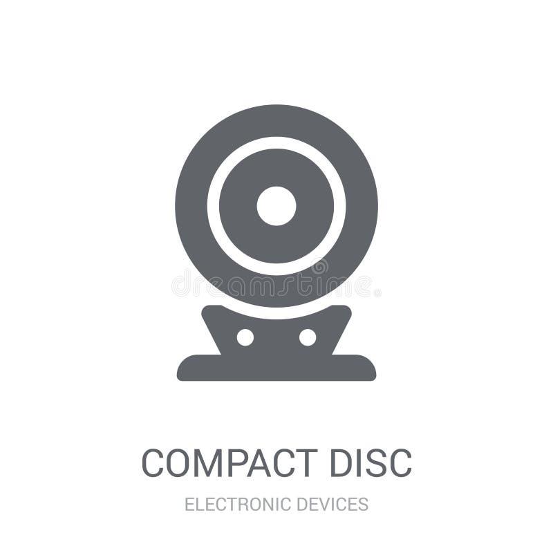 Płyty kompaktowa ikona  ilustracja wektor