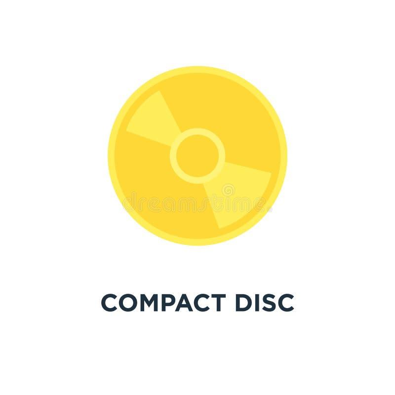 Płyty kompaktowa ikona muzyki, dvd lub cd pojęcia symbolu składowy desig, ilustracja wektor