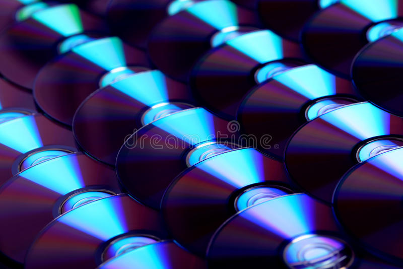 Płyty kompaktowa tło Kilka cd dvd Ray dyski Okulistyczny zdolny do nagrywania lub rewritable cyfrowy przechowywanie danych obraz royalty free