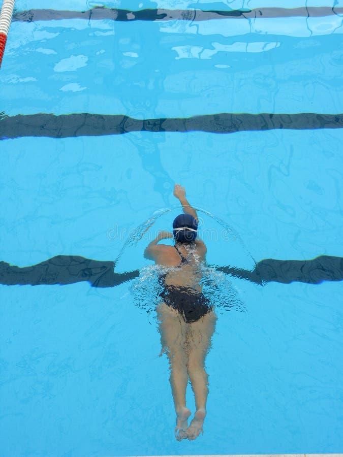 pływaccy dziewczyn potomstwa zdjęcie stock