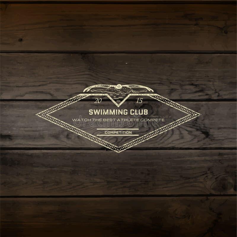 Pływaccy odznaka logowie, etykietki dla żadny i używają obraz stock