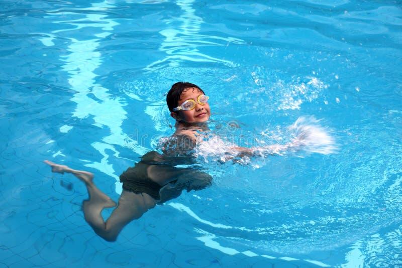 Pływacka chłopiec zdjęcia stock