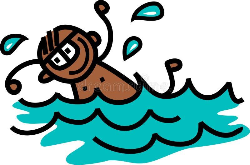 Pływacka chłopiec ilustracja wektor