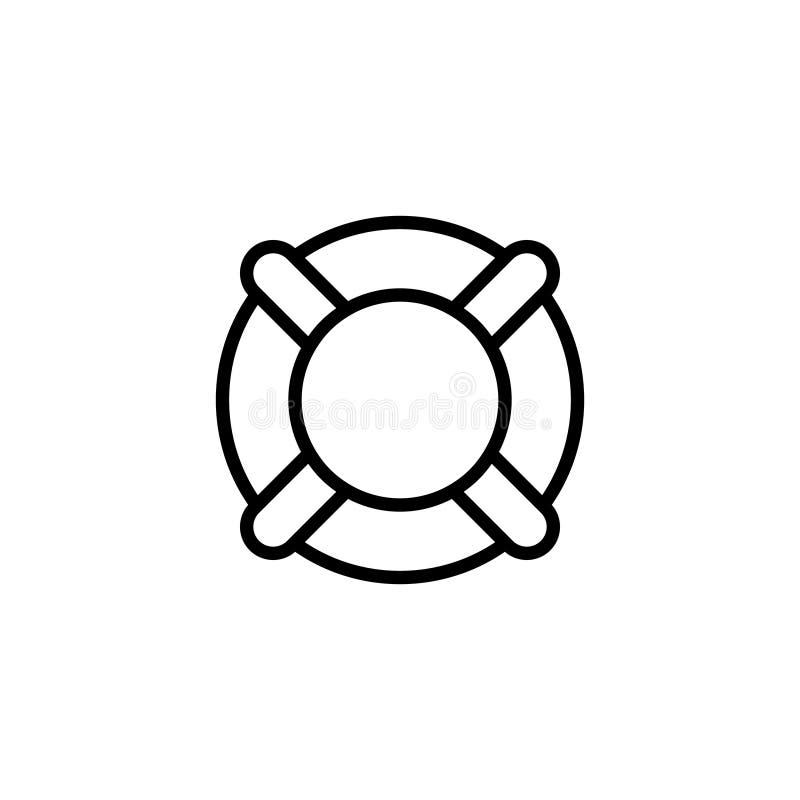 Pływacka płaska ikona ilustracji