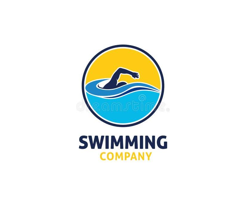 pływacka wodnego sporta logo projekta wektorowa inspiracja ilustracja wektor