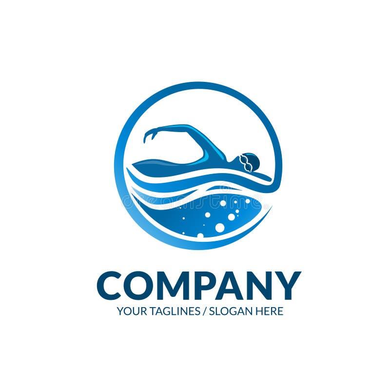 Pływacki świetlicowy sporta logo ilustracja wektor