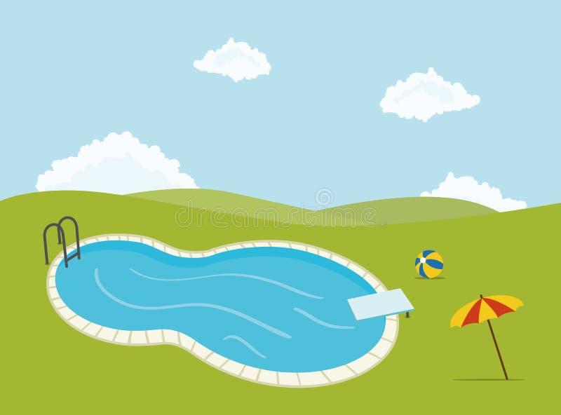 Pływacki basen ilustracji