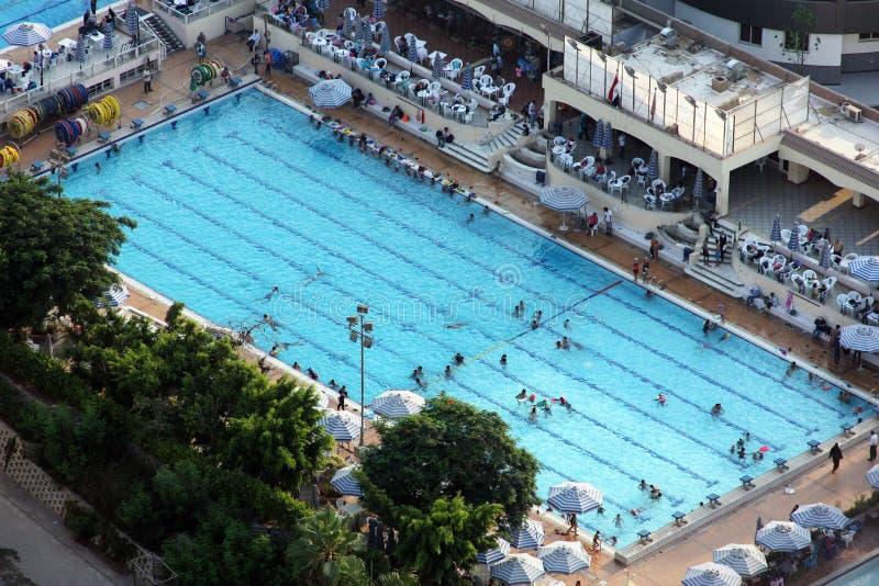 Pływacki basen od Cairo wierza fotografia stock