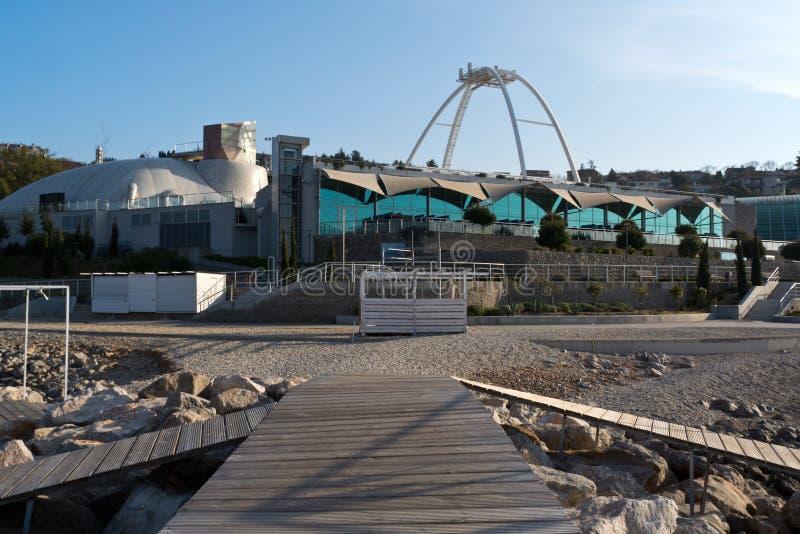 Pływacki basen powikłany Kantrida Rijeka Chorwacja obrazy royalty free
